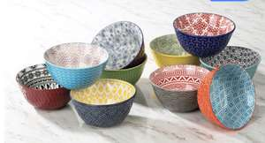 Signature Stoneware 10 Piece Serving Bowl Set £20.89 (with membership) delivered @ Costco