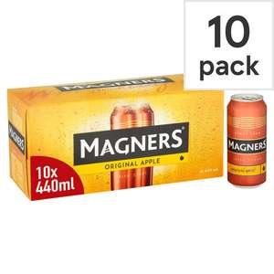 10 x 440ml Cans of Magners Original Cider £6 with Clubcard £8 without @ Tesco