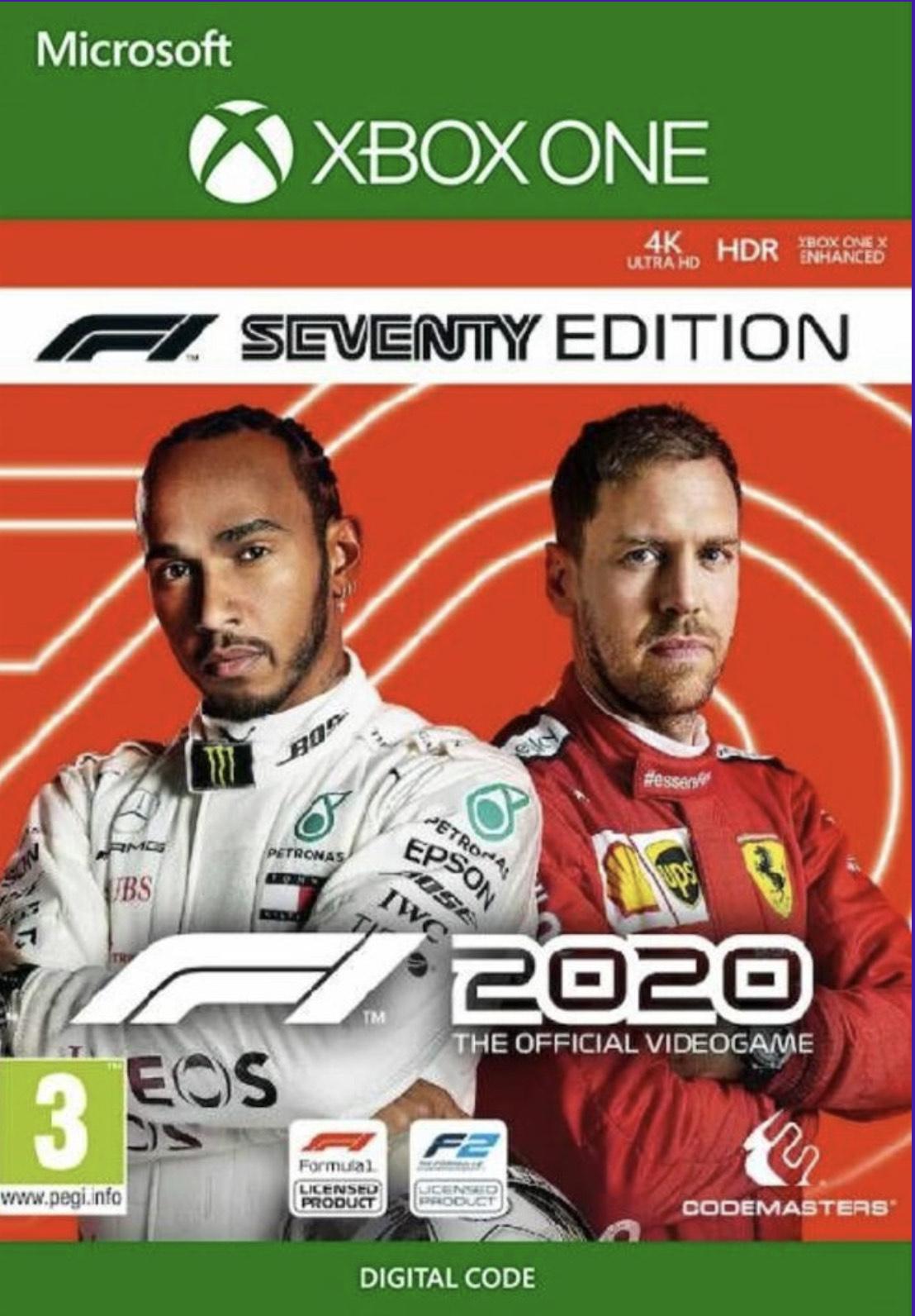 F1 2020 Seventy Edition Xbox One Digital (Argentina) - £17.12 with code @ Eneba