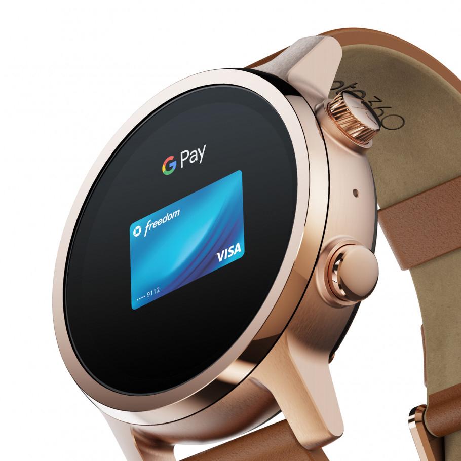 Moto 360 3rd Gen Smart Watch (Wear OS) - Rose Gold - direct - £199 @ Moto360