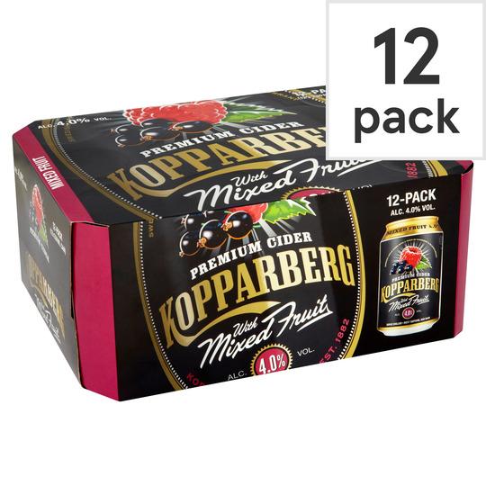 Kopparberg mixed fruits cider 12x330ml 4% ABV @ Tesco Express, Catford
