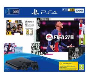 EA Sports FIFA 21 500GB PS4 Console + Second DUALSHOCK 4 Wireless Controller Bundle £279.99 + 20% off Football Shirt at Sports Direct @ Game