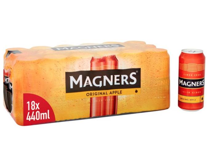 Magners Original Cider Cans 18 x 440ml, £12 or 2 cases for £18 @ Asda online instore
