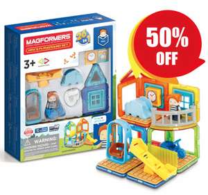 Half price Magformers House sets including Max's Playground set £15 + £5 delivery