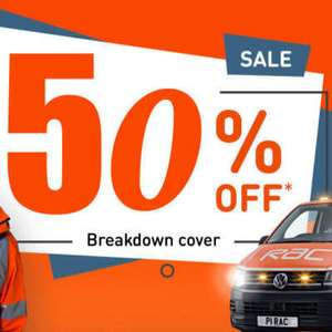 RAC Personal Breakdown Cover + At Home + National Recovery for £75 per year - New customers only