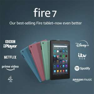 "Fire 7 Tablet | 7"" display, 16 GB, Black with Special Offers for £29.99 @ Amazon Prime"