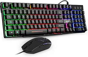Mafiti RK101 Mechanical Feeling Rainbow Backlit Keyboard & Mouse £16.99 Sold by greetek and Fulfilled by Amazon (Prime Exclusive)