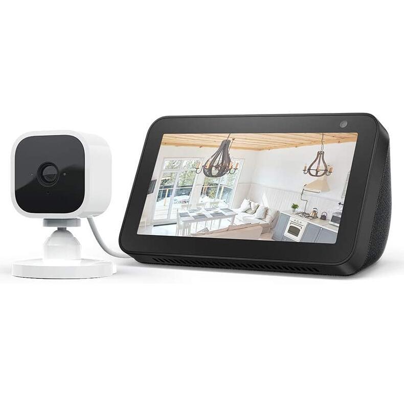 Echo Show 5 Black / White + Blink Mini 1080p Indoor Camera, Works with Alexa (Prime Deal) £49.99 @ Amazon