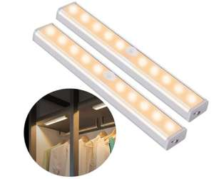 2 Pack of Motion Sensor Closet Light, 10 LED, Wireless, USB Rechargeable Battery - £11.99 Prime /+ £4.49 NP Sold by ousfot and FBA