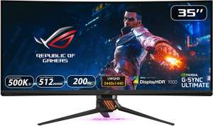 ASUS ROG SWIFT PG35VQ, 35 Inch UWQHD (3440 x 1440) Gaming Monitor, Up to 200 Hz, G-SYNC Ultimate, £1799 @ Amazon