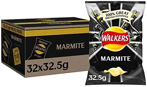 Walkers Marmite Crisps Box, 32.5 g (Case of 32) - £11.49 @ Amazon