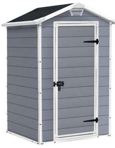 Keter Manor Outdoor Plastic Garden Storage Shed, Grey, 4 x 3 ft - £139.30 @ Amazon
