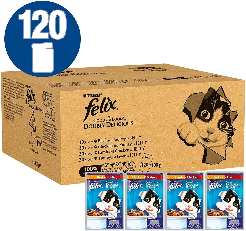 Felix as good as it looks doubly delicious 120 pouches £27.69 @ Amazon Prime