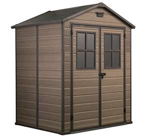 Keter Scala Outdoor Plastic Garden Storage Shed, Brown, 6 x 5 ft for £315.45 (Prime) delivered @ Amazon