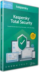Kaspersky Total Security 10 devices 1 year PC/Mac/Android | Activation Code by Post £16.99 prime / £19.98 nonPrime at Amazon