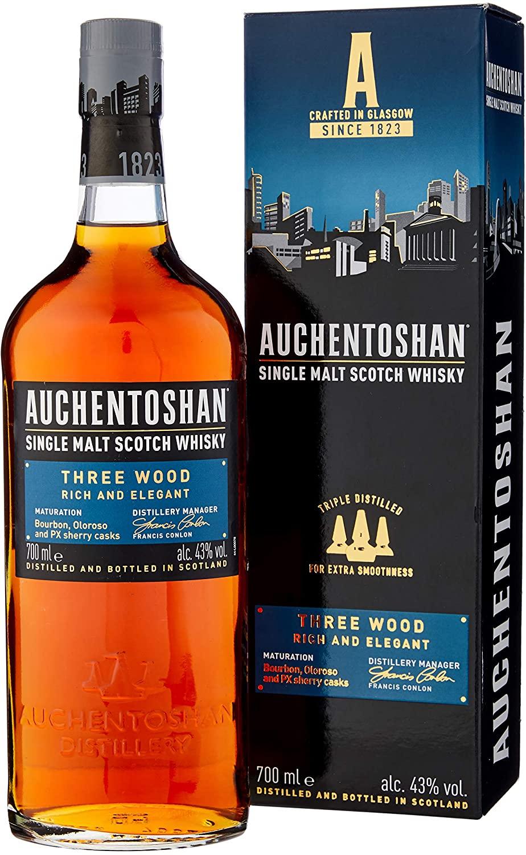 Auchentoshan Three Wood Single Malt Scotch Whisky, 70 cl £27.50 @ Amazon Prime