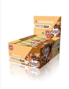 Maximuscle Protein Bar x 10 multiple flavours £12.95 Amazon prime day