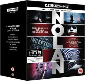 Christopher Nolan Collection 4K UHD + Blu-Rays £62.99 @ Amazon Prime