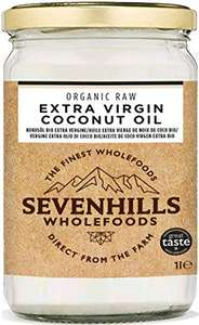 1L Organic Extra Virgin Raw Coconut Oil (Cold Pressed) - £8.99 Sold by Sevenhills Wholefoods and Fulfilled by Amazon Prime Exclusive