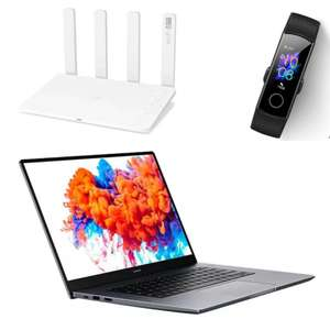 HONOR MagicBook 14 or 15 4500U/8GB/512GB bundle with Router 3 or HONOR Band 5 - £599.99 With voucher @ Honor