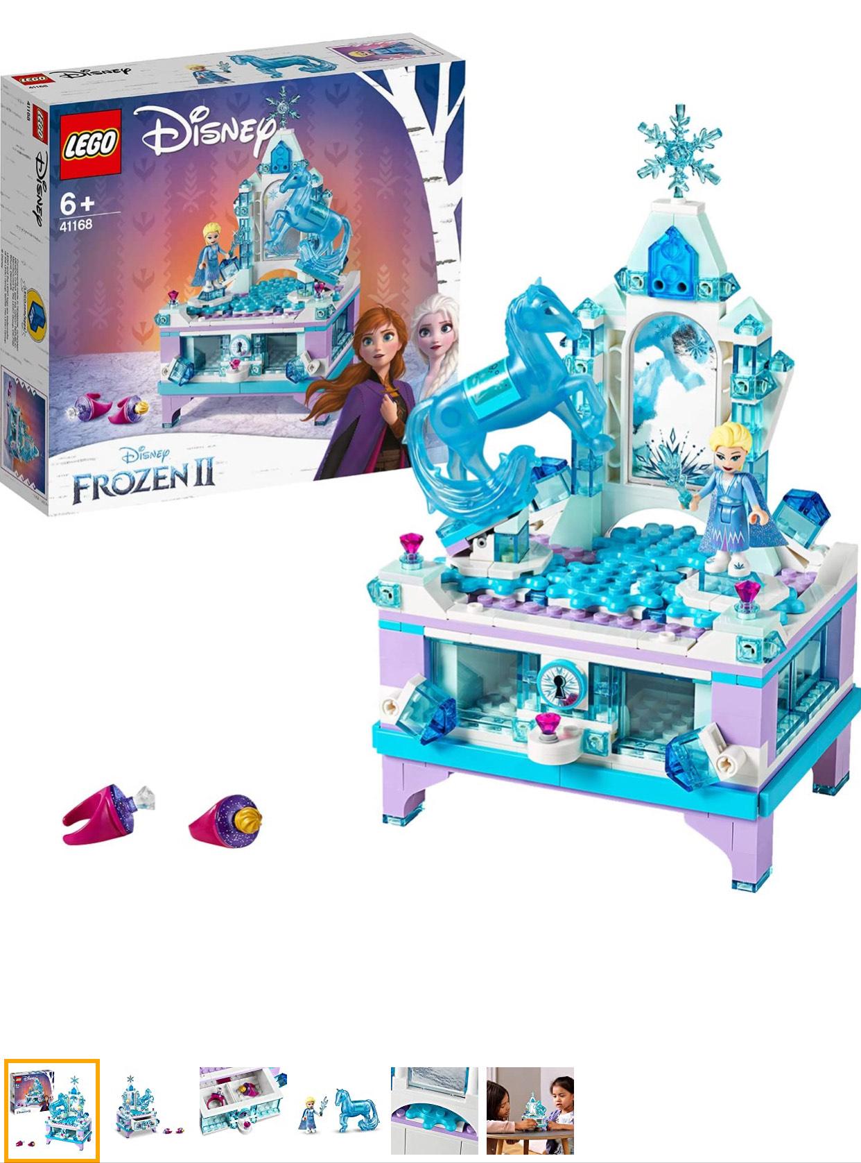 LEGO 41168 Disney Frozen II Elsa's Jewellery Box Creation with Princess Elsa Mini Doll and Nokk Figure @ Amazon (Prime Exclusive)