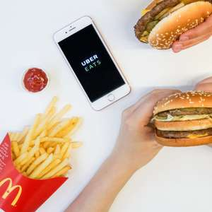 Free Delivery via Ubereats for orders over £10 (Selected Restaurants & Accounts) @ McDonald's