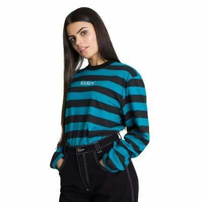 Womens Kickers Stripe Jersey T-Shirt Black/Teal 6-10 / Black/Burgandy 6-8 - £6.98 delivered @ bigbrandoutlet2015 / ebay