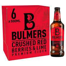 6 x Bulmers Crushed Red Berries and Lime - £6 Instore @ Asda (Orbital Swindon)