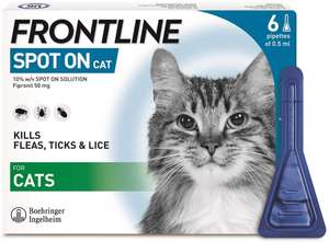 FRONTLINE Spot On Flea & Tick Treatment for Cats - 6 Pipettes - £13.39 @ Amazon Prime Exclusive