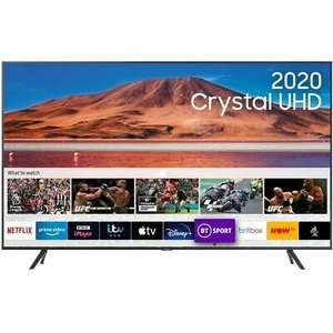 Samsung UE65TU7100 65 Inch TV Smart 4K Ultra HD LED Freeview HD 2 HDMI for £331.55 delivered with code @ AO eBay