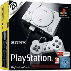 PlayStation Classic Mini Console with 20 games built-in Used-Very Good £18.13 Delivered (£21.12 non-Prime) from Amazon (Sold by EverGame)