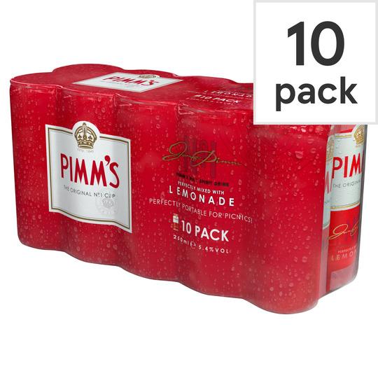 Pimm's & Lemonade 10x250ml £5.18 @ Sainsbury's, Lewisham Shopping Centre