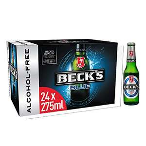 Becks Blue 0.0% Alcohol Free German Lager Beer 24 x 275ml - £8.99 Amazon Prime deal
