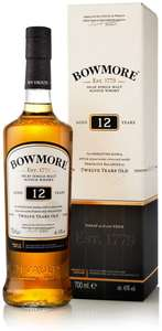 Bowmore Malt Whisky 12 Year Old, 70 cl 40% ABV - £24.99 @ Amazon Prime Exclusive