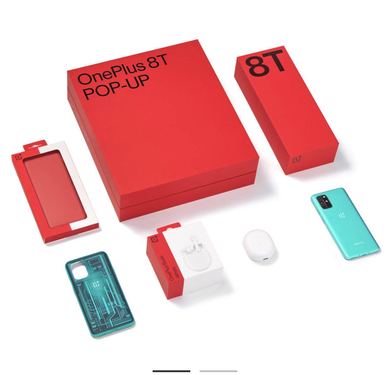 Oneplus 8T Pop up box bundle (Aquamarine Green 12 GB RAM + 256 GB Storage + Case + Wireless Buds) £649 via OnePlus