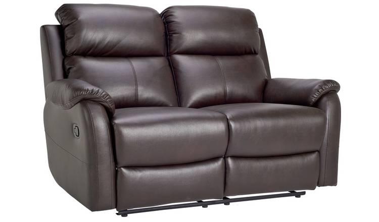 Argos Home Tyler 2 Seat Recliner Sofa - Dark Brown £175 + £6.95 delivery @ Argos