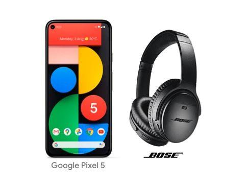 Google Pixel 5 5G Smartphone, Android, 8GB RAM,128GB - Claim A Free Pair Of Bose Headphones £599 John Lewis, 2 Year Guarantee