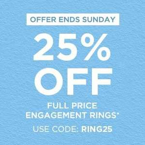 25% Off Full Price Engagement Rings @ H. Samuel (Biggest saving £3375)