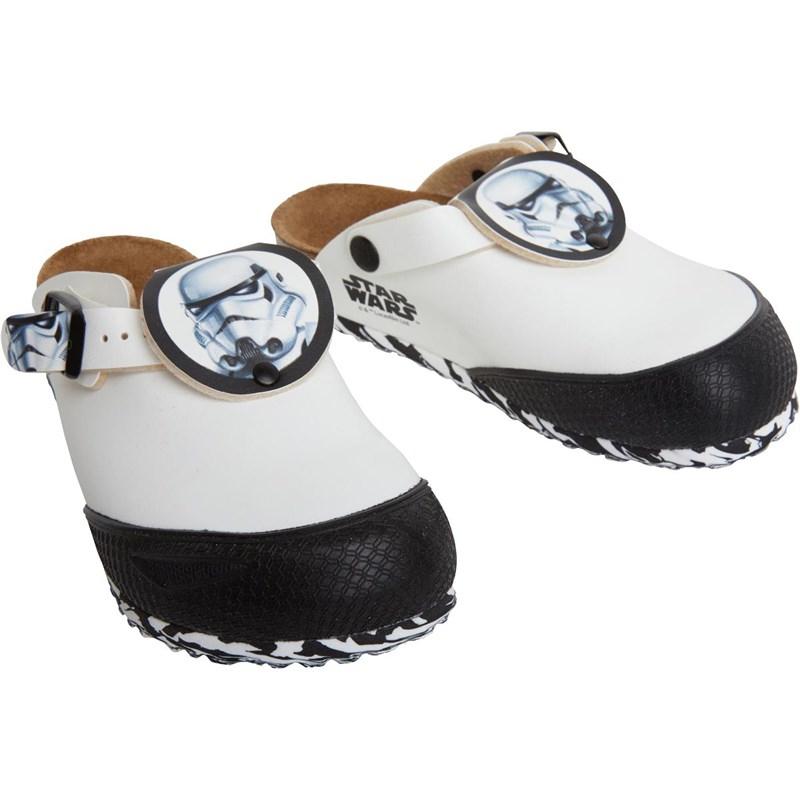 Birkenstock Boys Shetland Birko-Flor Narrow Fit Sandals Star Wars Stormtrooper White, 11.5-13.5 - £4.99 / £9.98 delivered @ MandM Direct