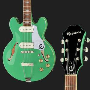 Epiphone Casino Coupe Hollowbody Guitar In Turquoise 2020 - P90 Pickups £369 Delivered @ Thomann