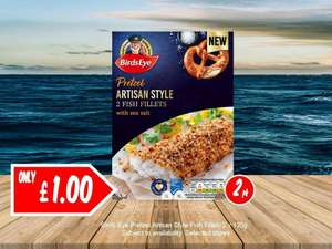 2 Birdseye Pretzel Artisan Style Fish Fillets are only £1 @ Jack Fultons!