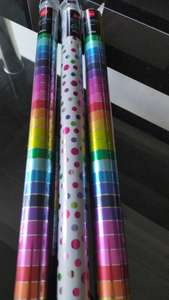 Wrapping paper 50p, 3 for 2 at Tesco Huddersfield