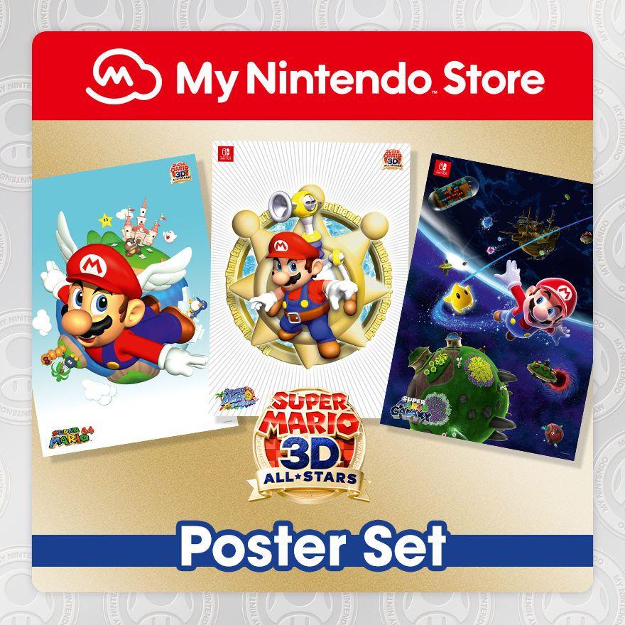 Super Mario 3D All-Stars Poster Set for 300 Platinum Points & £6.25 p&p @ Nintendo eShop