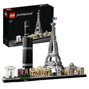 LEGO Architecture 21044 Paris Model Building Set with Eiffel Tower and The Louvre, Skyline Collection £35.99 @ Amazon