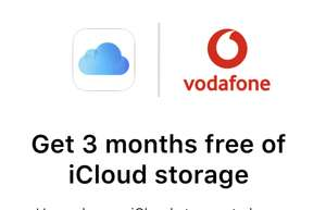 Get 3 months free 200gb ICloud from vodafone