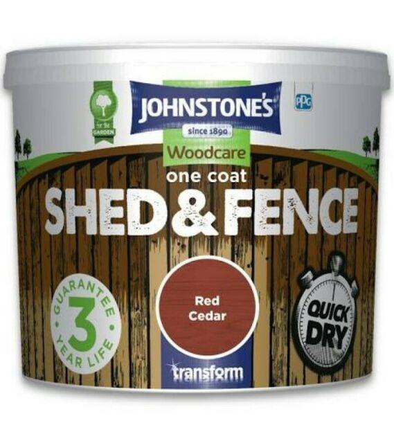Johnstones Woodcare One Coat Shed & Fence 5L - £0.35 @ Wilko (Slough)