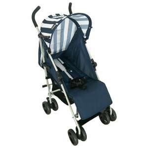My Babiie Stripes Stroller - Navy / Magenta - £24.99 free Click and Collect @ Argos