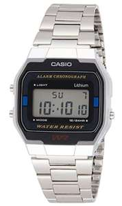 Casio Men's LCD Chronograph Silver Stainless Steel Watch + 2 Year Warranty - £14.99 + free click & collect @ Argos