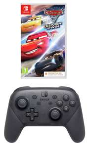 Nintendo Switch Pro Wireless Controller (Black) + Cars 3 (Nintendo Switch) for £59.99 (free click + collect) @ Argos