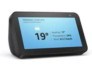 Echo Show 5 –Stay in touch with the help of Alexa, Black £49.99 at Amazon